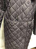 Женское пальто весна/осень фиолет  46 48 50 52 54 56, фото 3