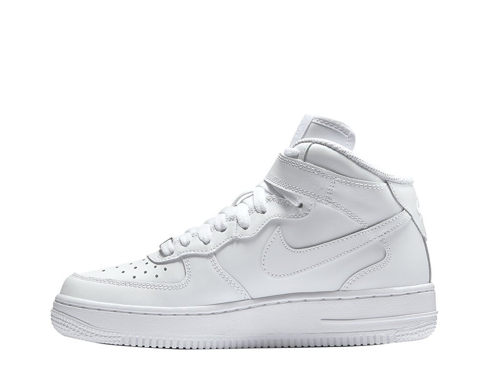 """Женские кроссовки  Nike Air Force 1 Mid  """"All White"""" 314195-113"""