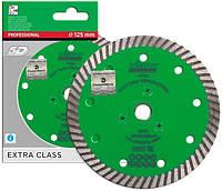 Круг алмазный Distar Turbo Elite M14F 125 мм, диск для резки гранита с фланцем на УШМ