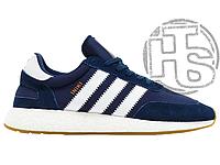 Мужские кроссовки Adidas Iniki Runner Collegiate Navy/White BB2092