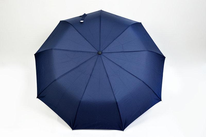 """Женский однотонный зонт,полуавтомат """"Темно-синий"""""""