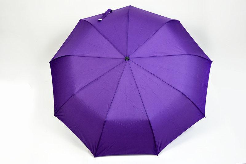 """Женский однотонный зонт,полуавтомат """"Фиолетовый"""""""