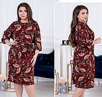 Женское платье большого размера-2 цвета, 54-56