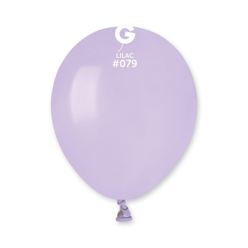 Латексные воздушные шары G90_79 Gemar Италия, расцветка: пастель сирень, 10 дюймов/26 см, 100 штук