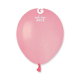 Повітряні кулі латексні G90_73 Gemar Італія, колір: пастель рожевий матовий, 10 дюймів/26 см, 100 штук