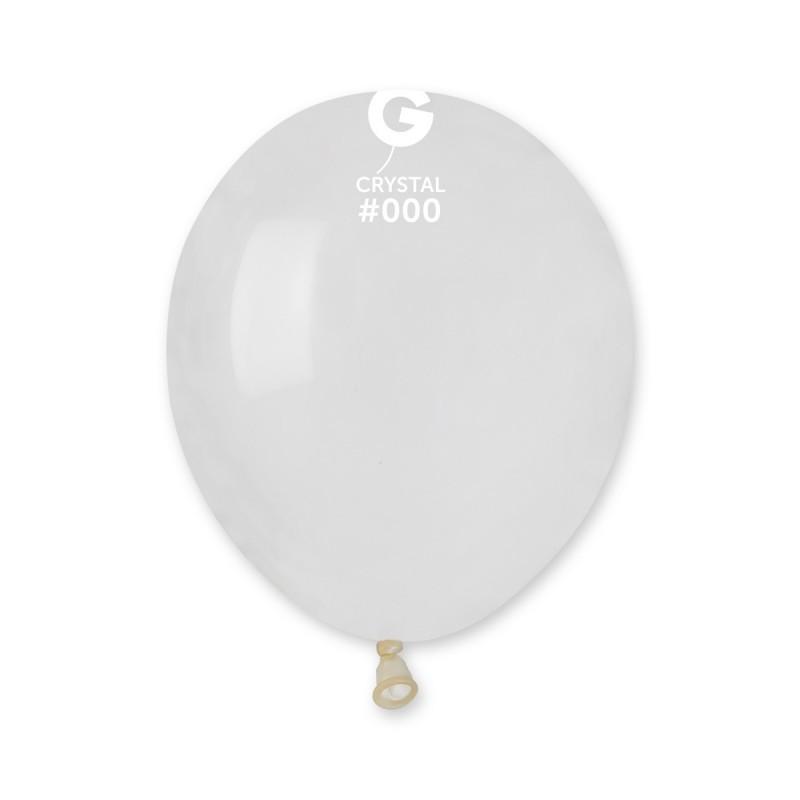 Латексные воздушные шары G90_00 Gemar Италия, расцветка: кристалл прозрачный, Диаметр 10 дюймов/26 см, 100 шту