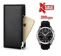 Мужское портмоне + часы Tissot в подарок!, фото 1