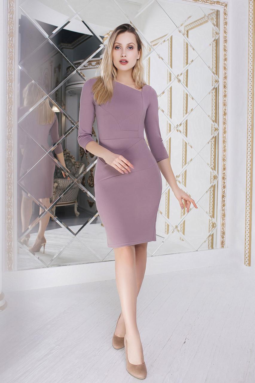Силуэтное Платье кофейного цвета