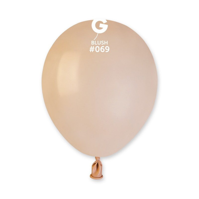 Повітряні кулі латексні G90_69 Gemar Італія, колір: пастель тілесний, Діаметр 10 дюймів/26 см, 100 штук у