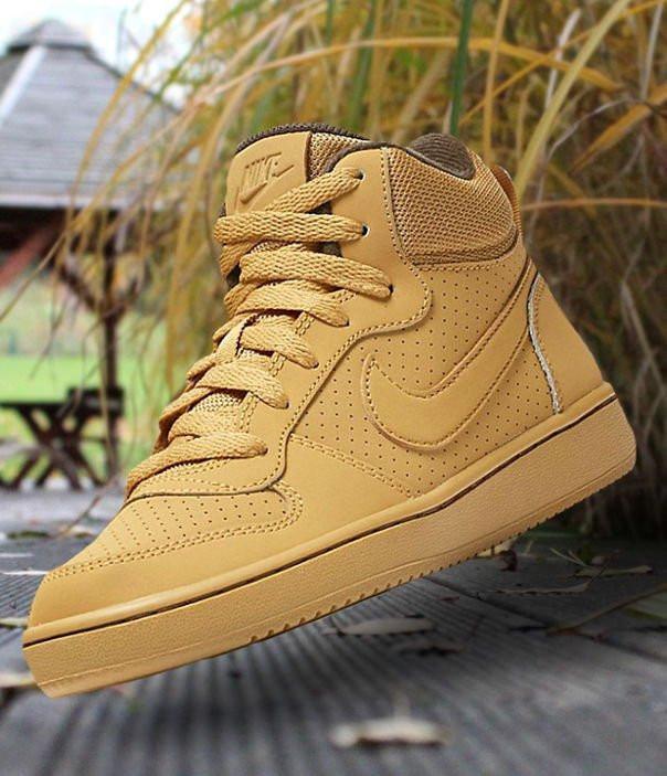 Оригинальные Кроссовки Nike Court Borough Mid Haystack 839977-700