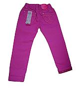 Детские джинсы облегченные котоновые для девочки с подкатом (фиолетовые) Венгрия