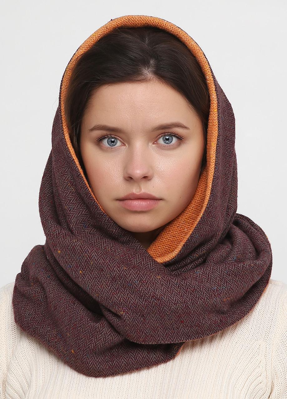 Дизайнерский шерстяной шарф-снуд ручной работы TamiMore  (018)