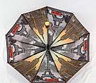 Женский зонт полуавтомат с двойной тканью и городами под куполом, фото 3