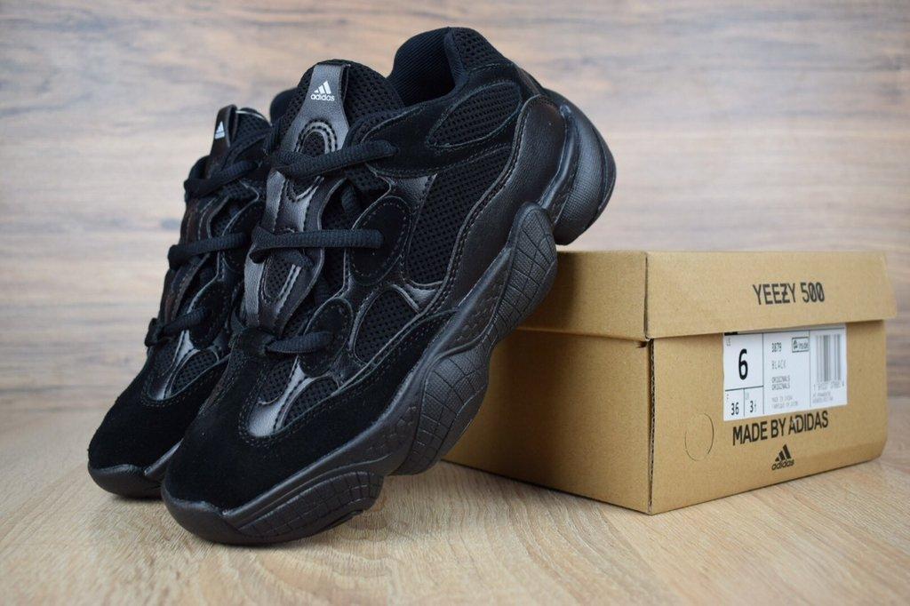 Adidas Yeezy Boost 500 Triple Black Черные мужские реплика