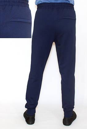 Спортивные штаны мужские синие NIKE манжет (копия), фото 2