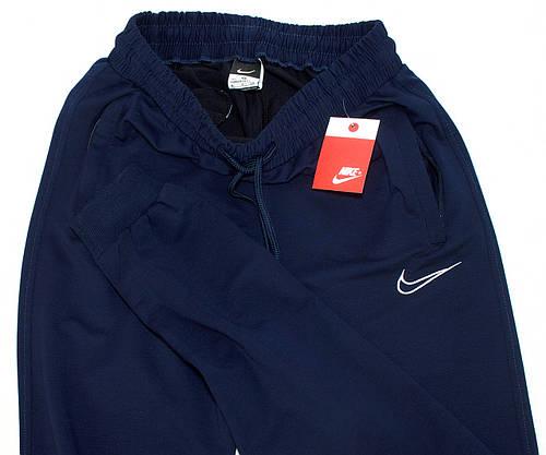 Спортивные штаны мужские синие NIKE манжет (копия), фото 3
