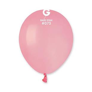 Повітряні кулі латексні G110_73 Gemar Італія, колір: пастель рожевий матовий, 12 дюймів/30 см, 100 штук