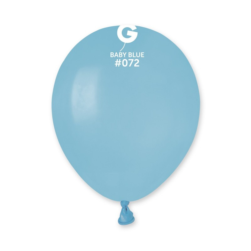 Латексные воздушные шары G110_72 Gemar Италия, расцветка: пастель голубой, 12 дюймов/30 см, 100 штук