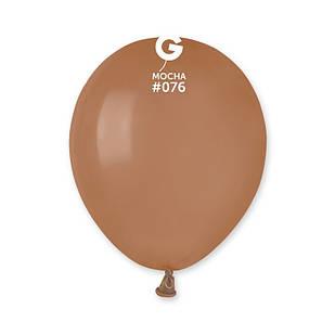 Латексные воздушные шары G110_76 Gemar Италия, расцветка: пастель мокко кофейный, 12 дюймов/30 см, 100 штук