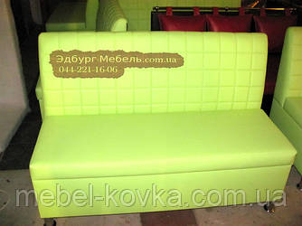 Изготовление зеленых диванов Кубик для кафе под ключ