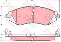 Колодки передние Ланос 1,6 BREMBO