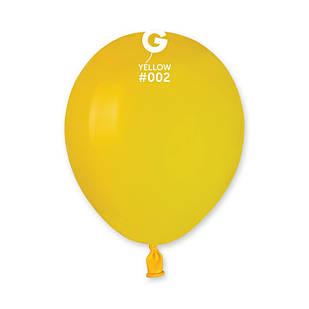 Повітряні кулі латексні G110_02 Gemar Італія, колір: пастель жовтий, Діаметр 12 дюймів/30 см, 100 штук у