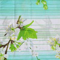Постельное белье поликотон с цветущей веткой яблони