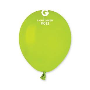 Повітряні кулі латексні G110_11 Gemar Італія, колір: пастель салатовий, Діаметр 12 дюймів/30 см, 100 штук