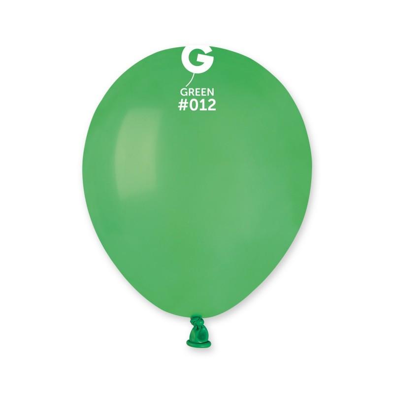 Повітряні кулі латексні G110_12 Gemar Італія, колір: пастель зелений, Діаметр 12 дюймів/30 см, 100 штук у