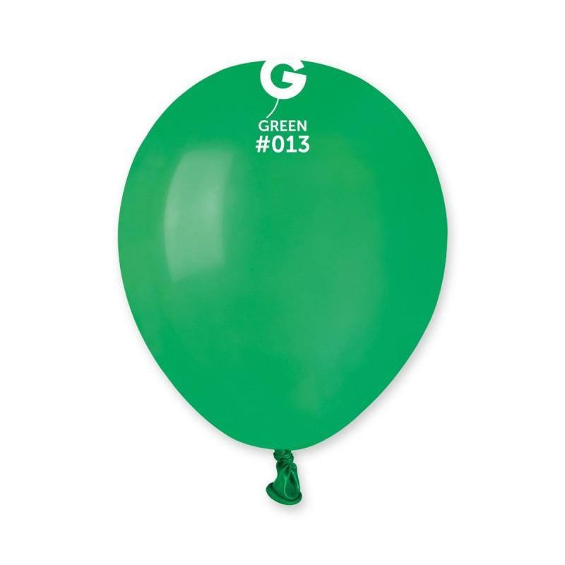 Латексные воздушные шары G110_13 Gemar Италия, расцветка: пастель зеленый, Диаметр 12 дюймов/30 см, 100 штук в