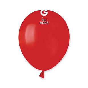 Повітряні кулі латексні G110_45 Gemar Італія, колір: пастель червоний, Діаметр 12 дюймів/30 см, 100 штук у
