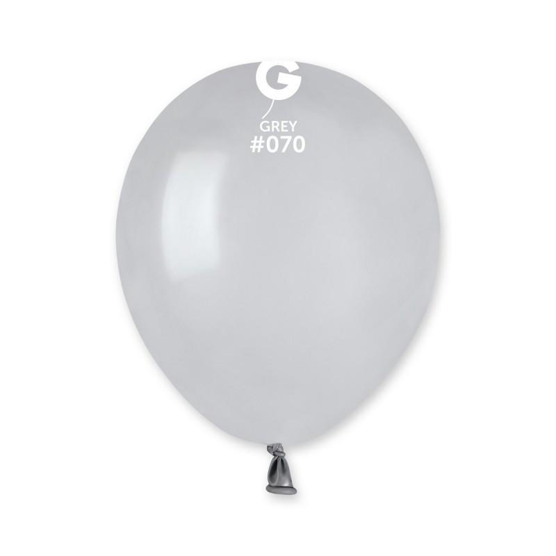 Повітряні кулі латексні G110_70 Gemar Італія, колір: пастель сірий, Діаметр 12 дюймів/30 см, 100 штук у