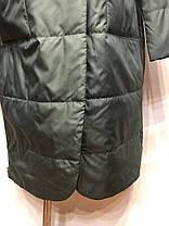Женское пальто весна/осень зеленый 48 50 52 54 56, фото 3