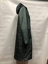 Женское пальто весна/осень зеленый 48 50 52 54 56, фото 2