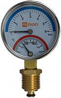 "Термоманометр FADO вертикальный Д63 ½"" 120°С 6 бар"