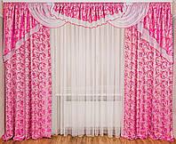 """Ламбрекен со шторами для спальни """"Моника"""""""