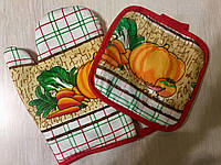 Набір кухонний (прихватка + рукавиця)