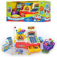 Детский кассовый аппарат Play Smart (микрофон, весы, деньги, сканер)