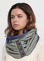 Дизайнерский шерстяной шарф-снуд ручной работы TamiMore (028)