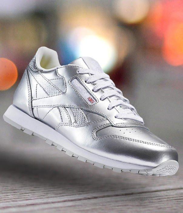 Оригинальные Кроссовки Reebok Classic Leather Metallic Silver BS8945