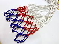 Сетка баскетбольная трехцветная нейлон (пара), фото 1