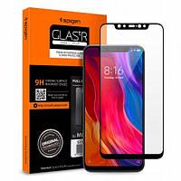 Защитное стекло Spigen Glas.tR Slim Full Cover для Xiaomi MI 8  Black  (S11GL24508)