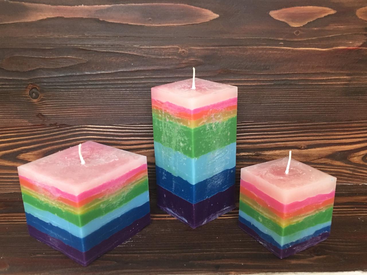 Набор свечей радужная геометрия