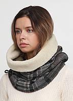 Дизайнерский высокий трикотажный шарф-снуд ручной работы TamiMore  (031)