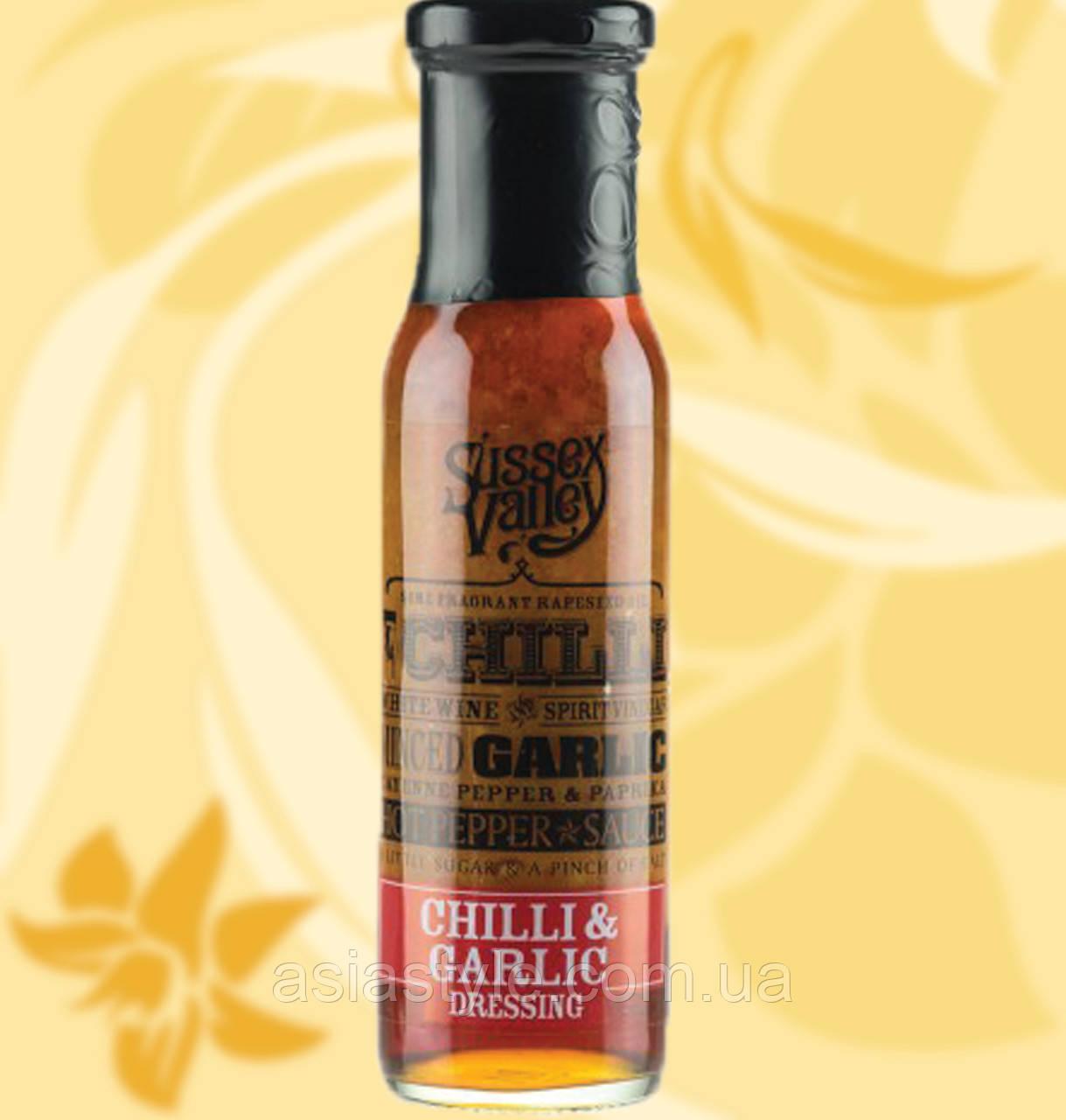 Соус Чилі з Часником, Sussex Valley Chili & Garlic Dressing, 240г, Ст