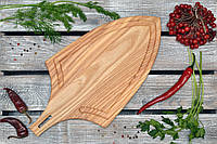 Деревянные доски для подачи с углублением для соусницы. Лопата. (A01003)