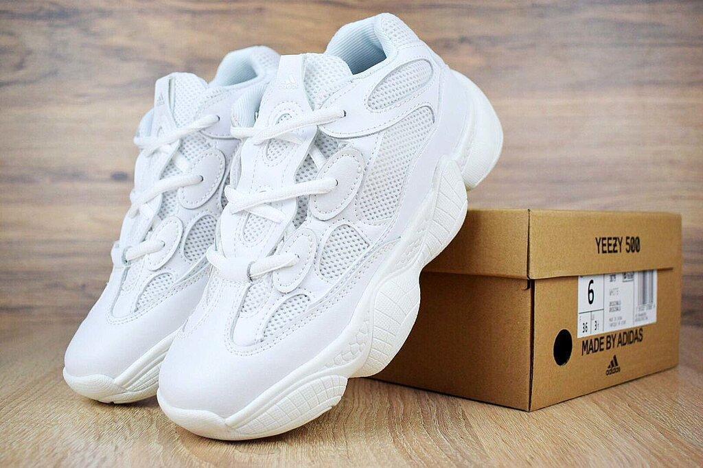 Adidas Yeezy Boost 500 Triple White Белые женские реплика