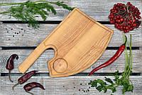 Деревянные доски для подачи с углублением для соусницы. Топор. (A01001)