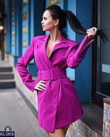 Женское стильное пальто с паясом