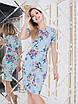 Мила голубое Платье цветочный принт, фото 4